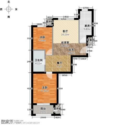 朱辛庄限价房2室0厅1卫1厨81.00㎡户型图