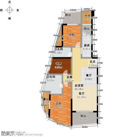 华侨城华寓3室0厅2卫1厨172.00㎡户型图