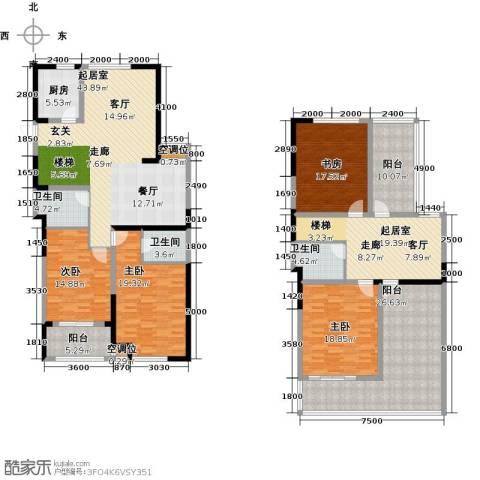 香榭里4室0厅3卫1厨215.00㎡户型图