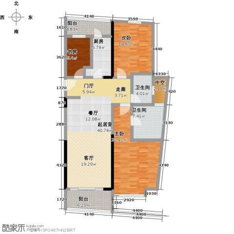 华侨城华寓3室0厅2卫1厨134.00㎡户型图