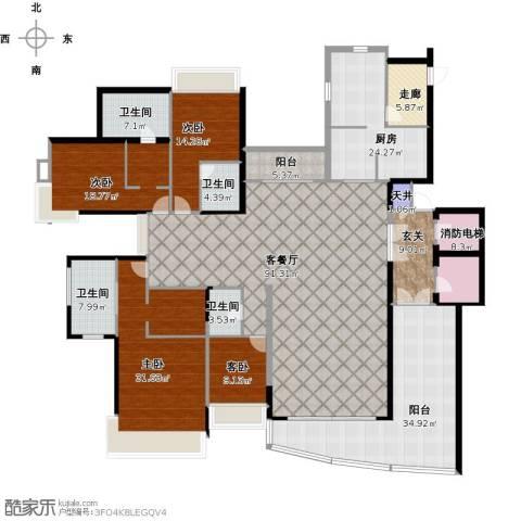 藏珑湖上国际社区4室1厅4卫1厨380.00㎡户型图