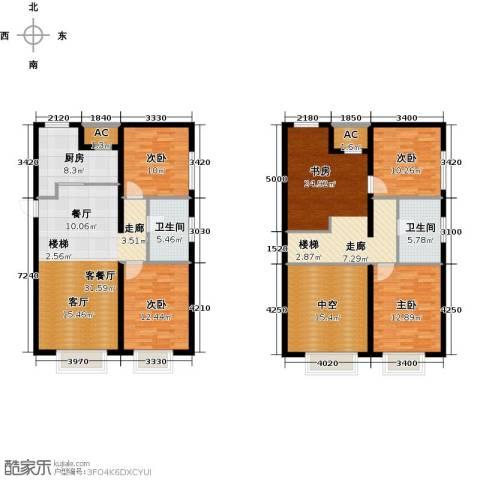 保利金香槟5室1厅2卫1厨139.95㎡户型图