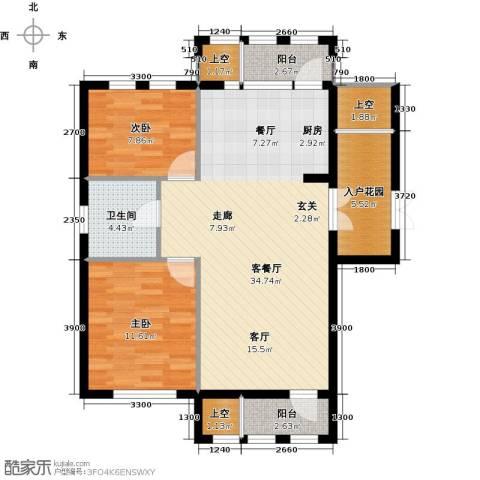 华宇梧桐苑2室1厅1卫0厨87.00㎡户型图