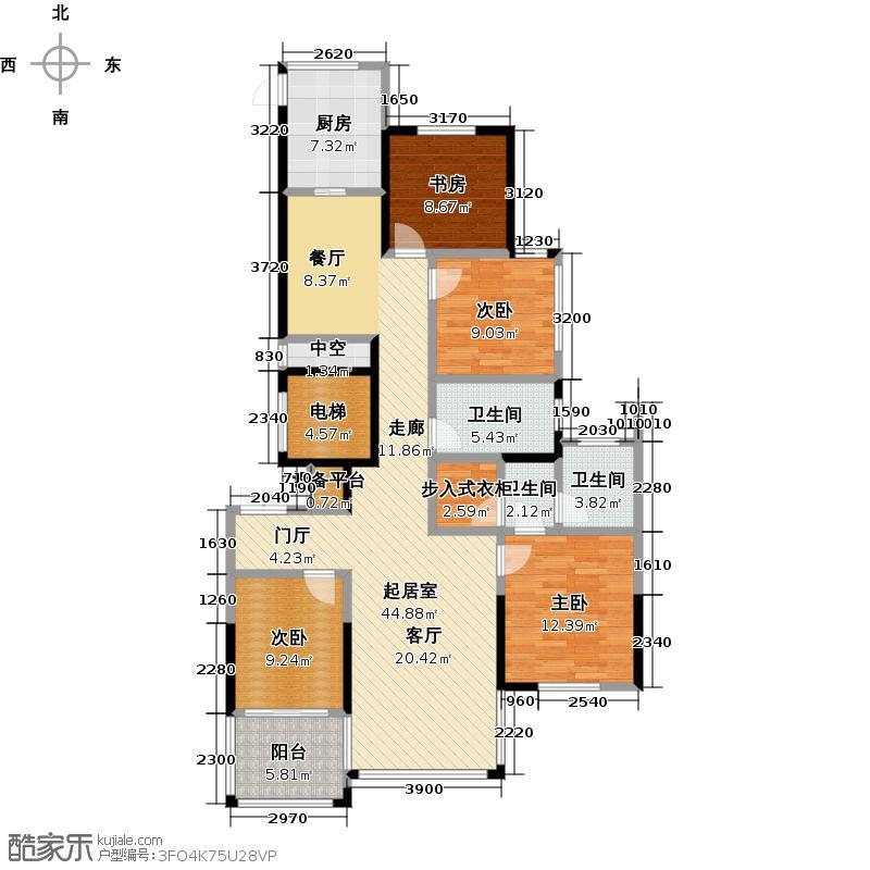 均利天玺135.00㎡B2户型4室2厅2卫