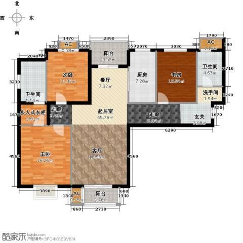 浩友凤凰城3室0厅2卫1厨162.00㎡户型图
