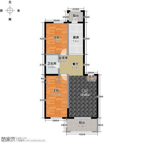 漫步巴黎2室0厅1卫1厨106.00㎡户型图