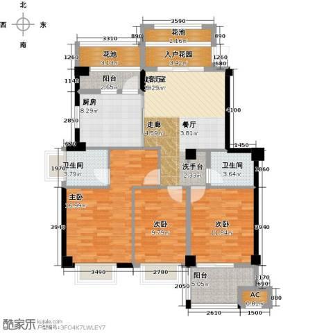 诚盛御庭3室0厅2卫1厨134.00㎡户型图