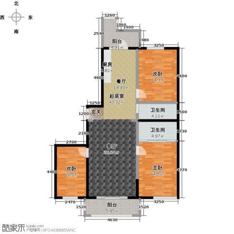 漫步巴黎3室0厅2卫0厨144.00㎡户型图