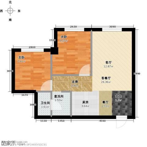 金丰大厦2室1厅1卫0厨70.00㎡户型图