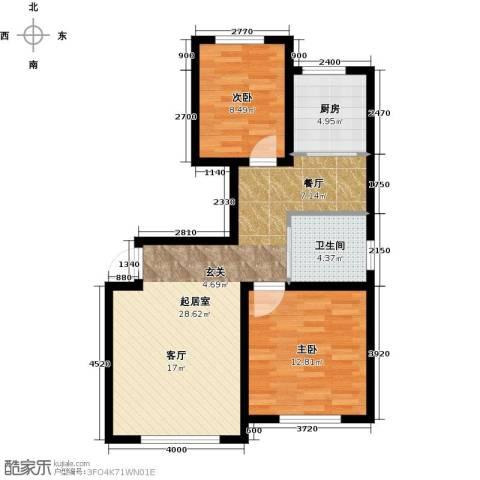 天富东苑2室0厅1卫1厨88.00㎡户型图