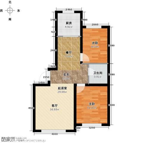 天富东苑2室0厅1卫1厨87.00㎡户型图