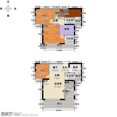 太阳湾3室0厅3卫1厨153.00㎡户型图
