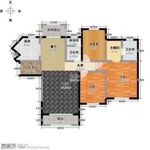 众益万国宫馆2室0厅2卫1厨132.00㎡户型图
