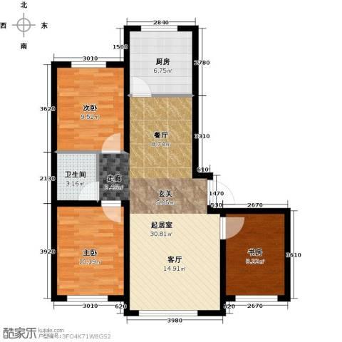 天富东苑3室0厅1卫1厨104.00㎡户型图