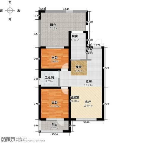 格林喜鹊花园2室0厅1卫1厨113.00㎡户型图