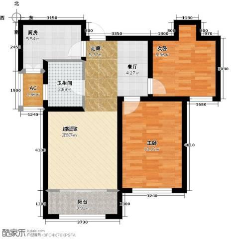 华厦津典三期川水园2室0厅1卫1厨96.00㎡户型图