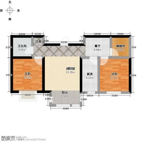 大学时光2室0厅1卫1厨68.00㎡户型图