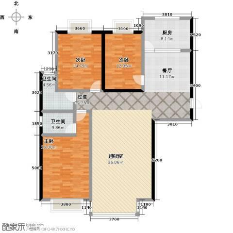 千家和泰・欣家园3室0厅2卫1厨143.00㎡户型图