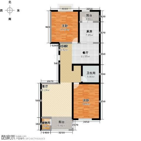 千家和泰・欣家园2室0厅1卫1厨119.00㎡户型图