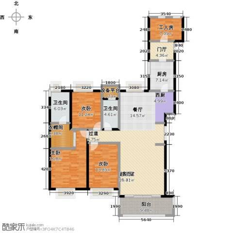 国贸天琴湾3室0厅2卫1厨167.00㎡户型图