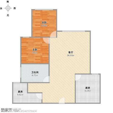 古银杏苑2室1厅1卫2厨101.00㎡户型图