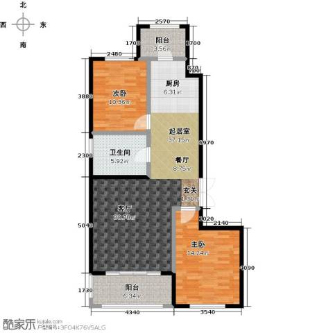 龙鸿怡家2室0厅1卫0厨95.00㎡户型图