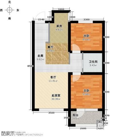 格林喜鹊花园2室0厅1卫0厨80.00㎡户型图
