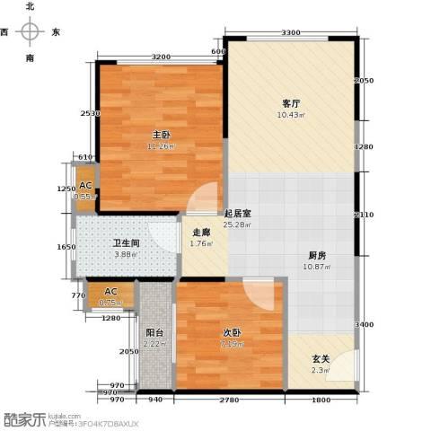 中铁子悦薹2室0厅1卫0厨52.00㎡户型图