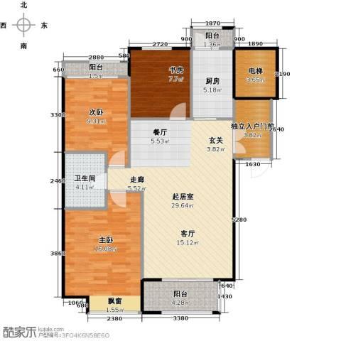 悦城3室0厅1卫1厨116.00㎡户型图
