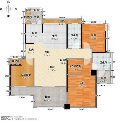 中铁子悦薹2室0厅2卫0厨110.00㎡户型图