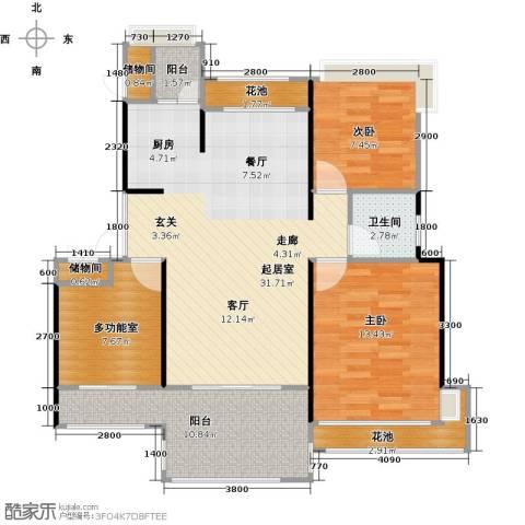 中铁子悦薹2室0厅1卫0厨90.00㎡户型图