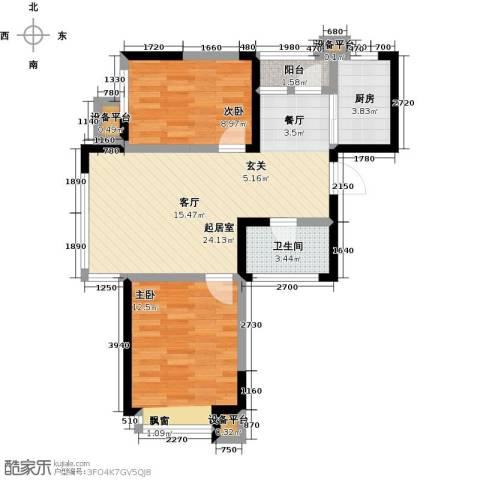 融城7英里2室0厅1卫1厨80.00㎡户型图