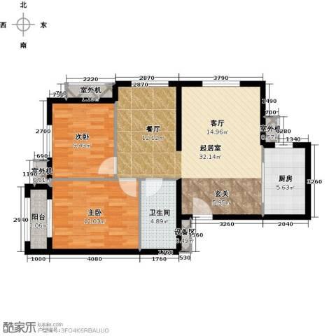 朱辛庄限价房2室0厅1卫1厨89.00㎡户型图