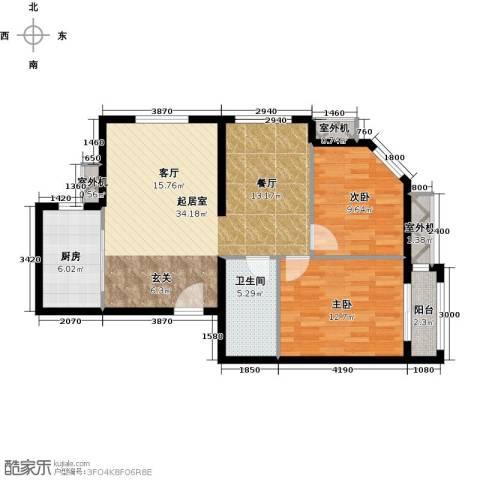 朱辛庄限价房2室0厅1卫1厨88.00㎡户型图