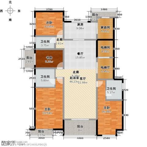 万科金域曲江4室0厅3卫1厨221.00㎡户型图