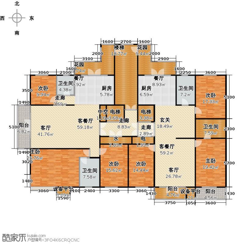 金京赛丽斯高层8#9#户型