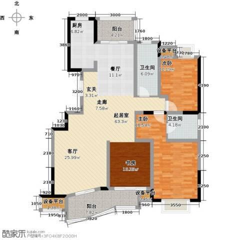 锦上华庭铭邸2室0厅2卫0厨122.00㎡户型图