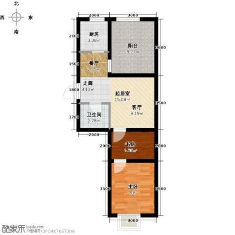格林喜鹊花园2室0厅1卫1厨65.00㎡户型图