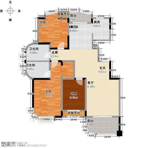 锦上华庭铭邸3室0厅2卫0厨116.00㎡户型图