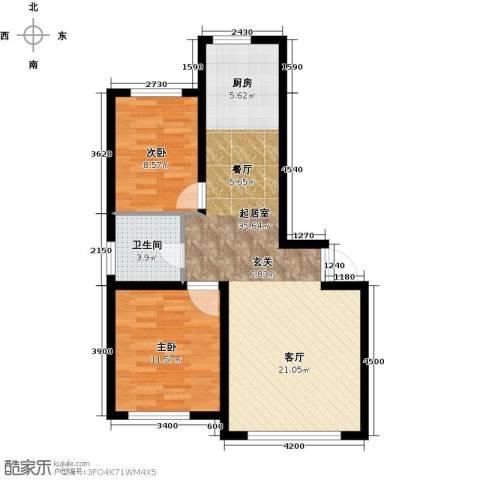 天富东苑2室0厅1卫0厨88.00㎡户型图