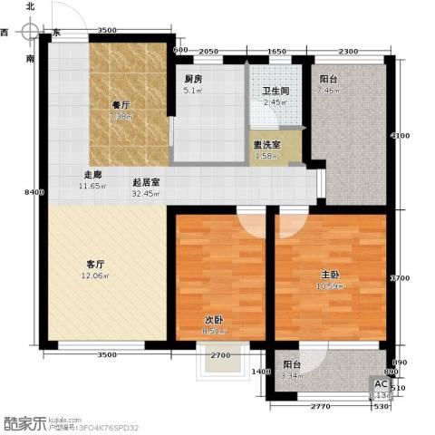 格林喜鹊花园2室0厅1卫1厨101.00㎡户型图