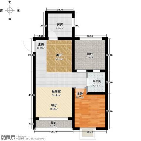 格林喜鹊花园1室0厅1卫1厨73.00㎡户型图