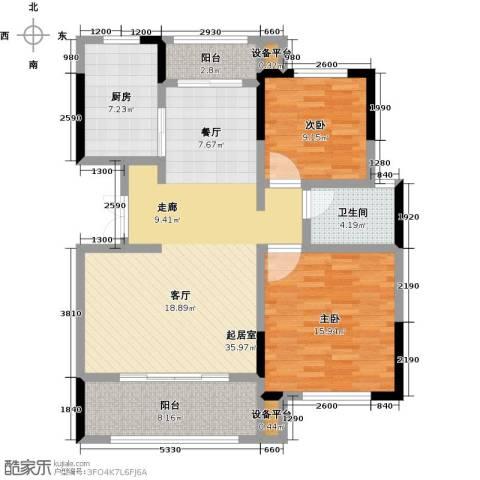 御景华庭2室0厅1卫1厨97.00㎡户型图