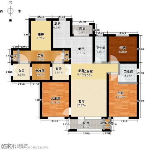 领秀蓝珀湖3室0厅2卫0厨115.15㎡户型图