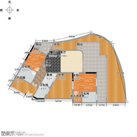 保利・半岛1号2室1厅3卫1厨181.46㎡户型图