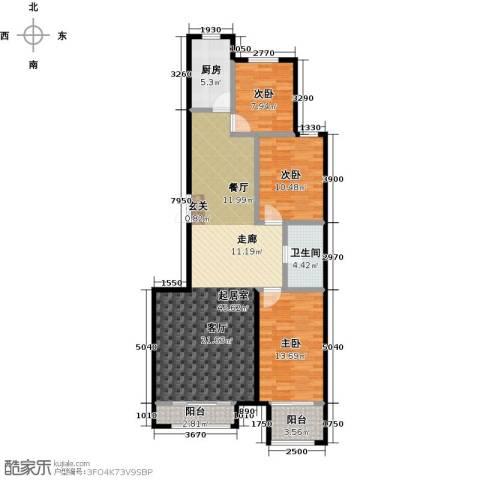 天承锦绣3室0厅1卫1厨115.00㎡户型图