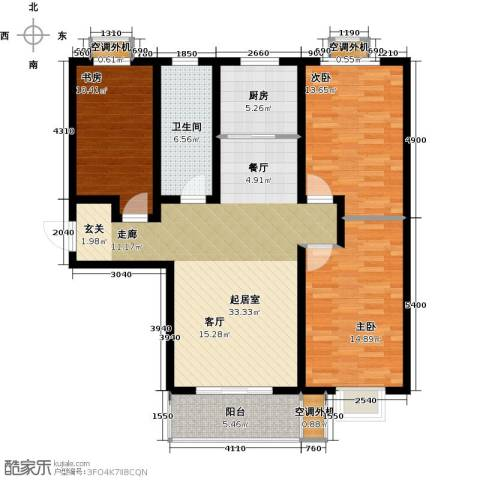 安泰诚品3室0厅1卫1厨121.00㎡户型图