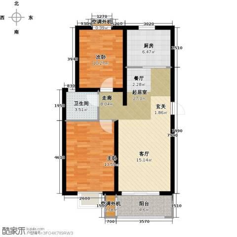 安泰诚品2室0厅1卫1厨92.00㎡户型图
