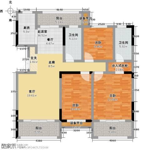 御景华庭3室0厅2卫1厨133.00㎡户型图