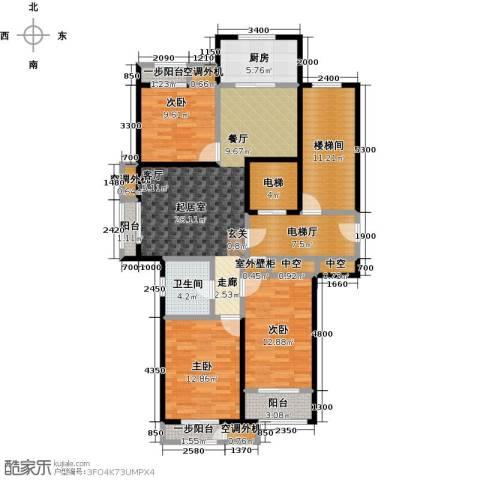 天承锦绣3室0厅1卫1厨118.00㎡户型图